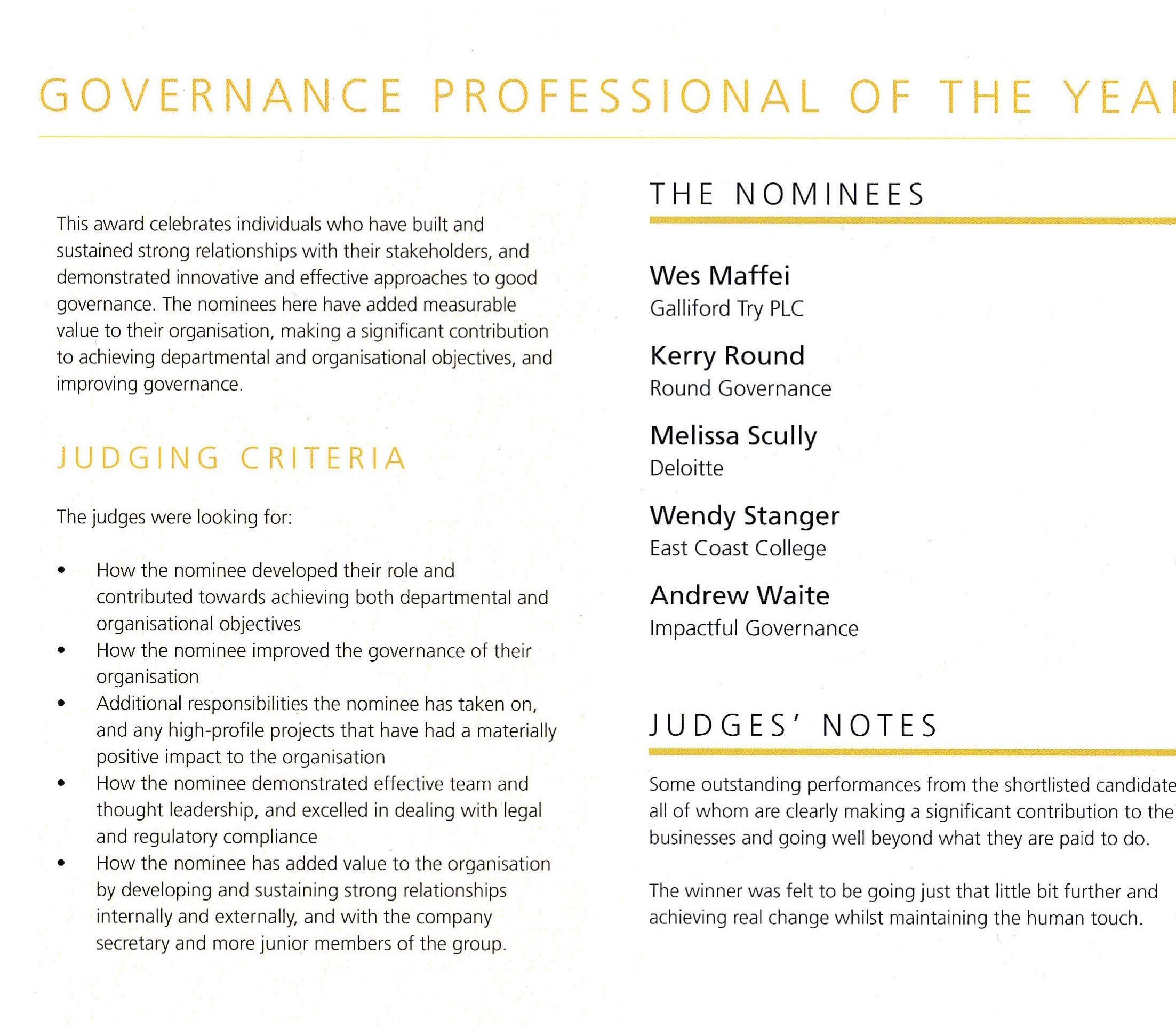 Professional of the Year 2019 - Page 1